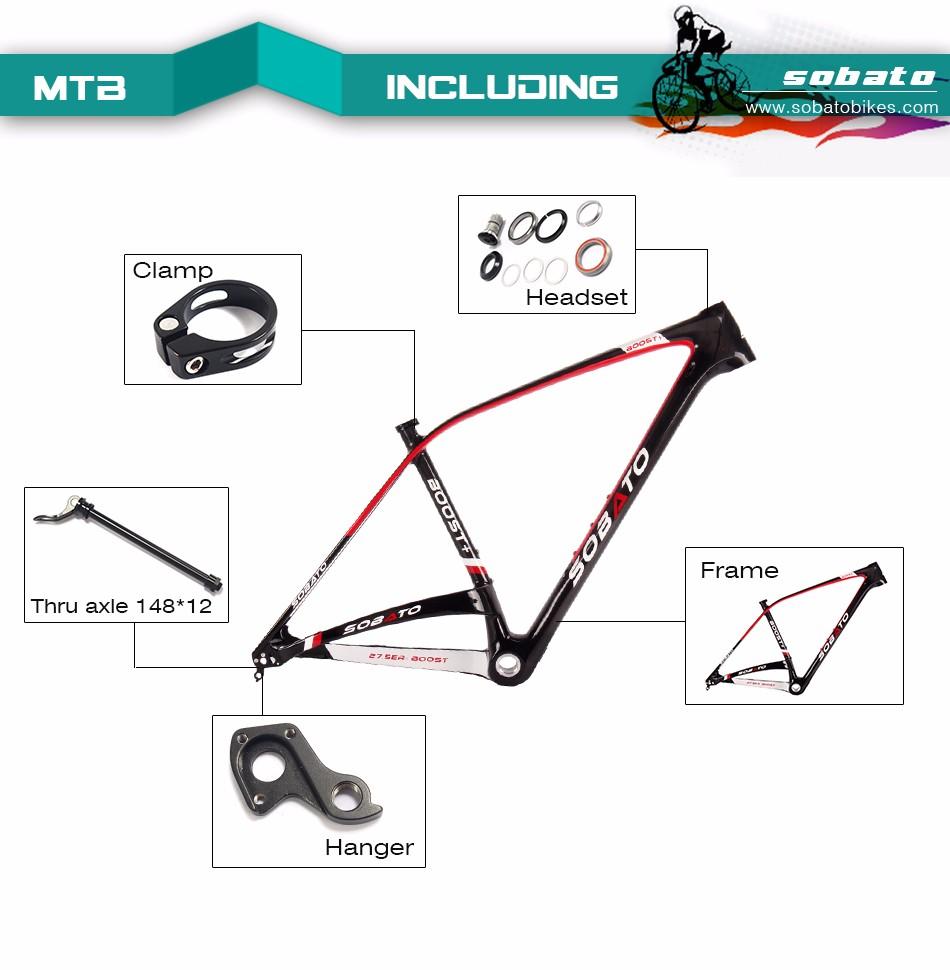 ⃝Toray T800 carbon 27.5er plus mtb rahmen 650b carbon rahmen ...