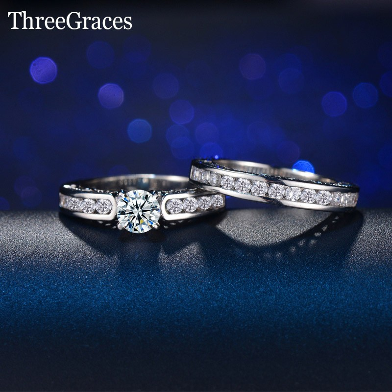 Learned Free Shipping 4mm Silvery Clay Half Double Row Crystal 316l Stainless Steel Wedding Rings For Men Women Wholesale Jewelry & Accessories