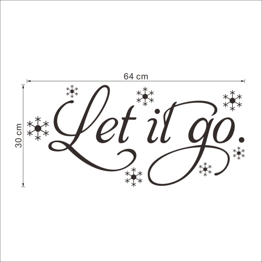 Aliexpress.com : Buy Let it Go Cartoon Wall Quote Stickers