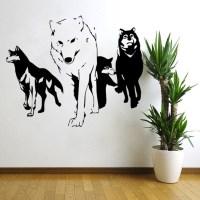 2016 NEW Wolf Wall Decal Vinyl Wall Sticker Predator ...