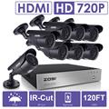 ZOSI 8CH CCTV System 1080P DVR 8PCS 1500TVL IR Weatherproof Outdoor Video Surveillance Home Security Camera