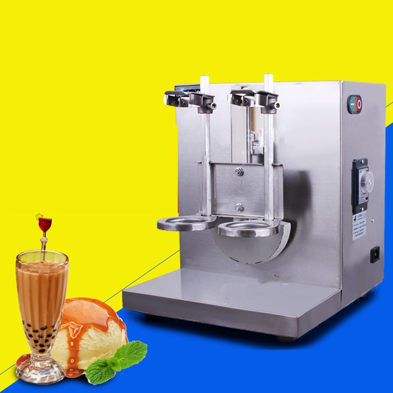 ⊰Doble-Marco té de la burbuja Máquina automática té boba, bebidas ...