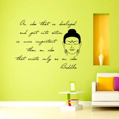 Wall Stickers Living Room Small Decor India Inspiring Sentence Buddha Sticker Removable Vinyl Art Decals Home Black Inspiration Olivia For Your