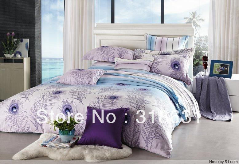 Shop Popular Peacock Feather Duvet from China