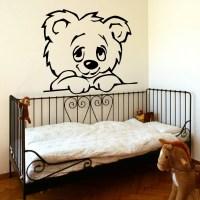 LARGE NURSERY BABY TEDDY BEAR WALL MURAL GIANT TRANSFER ...