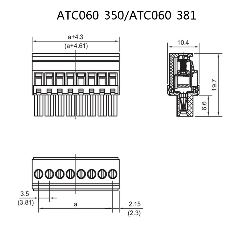 1000pcs 35mm 6pin Spacing Pitch Plug In Socket Pcb Terminal Endpin Jack Wiring Diagram 10 Pin Connector Iec Mini Usb Rj11 Auto Delphi