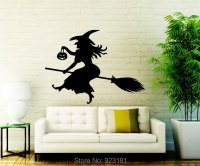 Buy Halloween Witch Flying Silhouette Wall Art Sticker