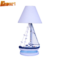 HGhomeart Mediterranean Style Led Table Lamp E27 Bulb 110V 220V Boy Wooden Desk Lamp Bedroom Light