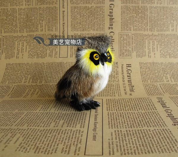Simulation Night Owl Model Polyethylene Fur Toy Handicraft