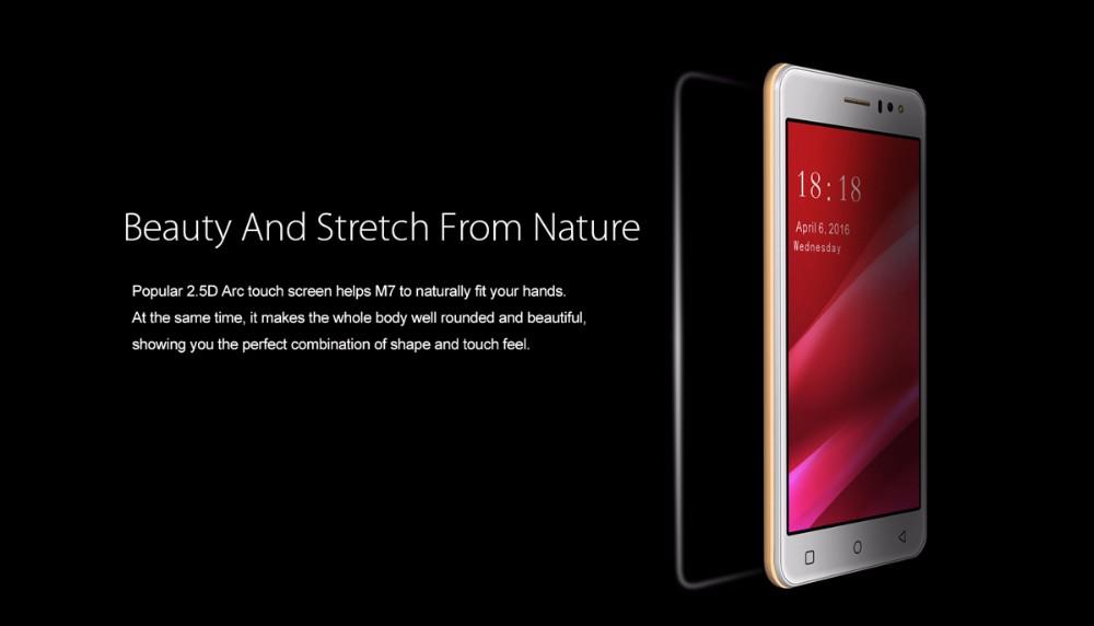 חדש Gooweel M7 3G Smartphone 5.5 מסך IPS אינץ MTK6580 quad core GPS טלפון נייד 1GB זיכרון RAM 8GB ROM WCDMA טלפון נייד