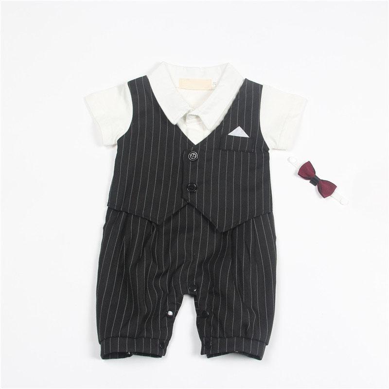 ヾ(^▽^)ノRopa de Bebé recién nacido Estilo Gentleman Ropa Kids ... 8f00df2e03d6