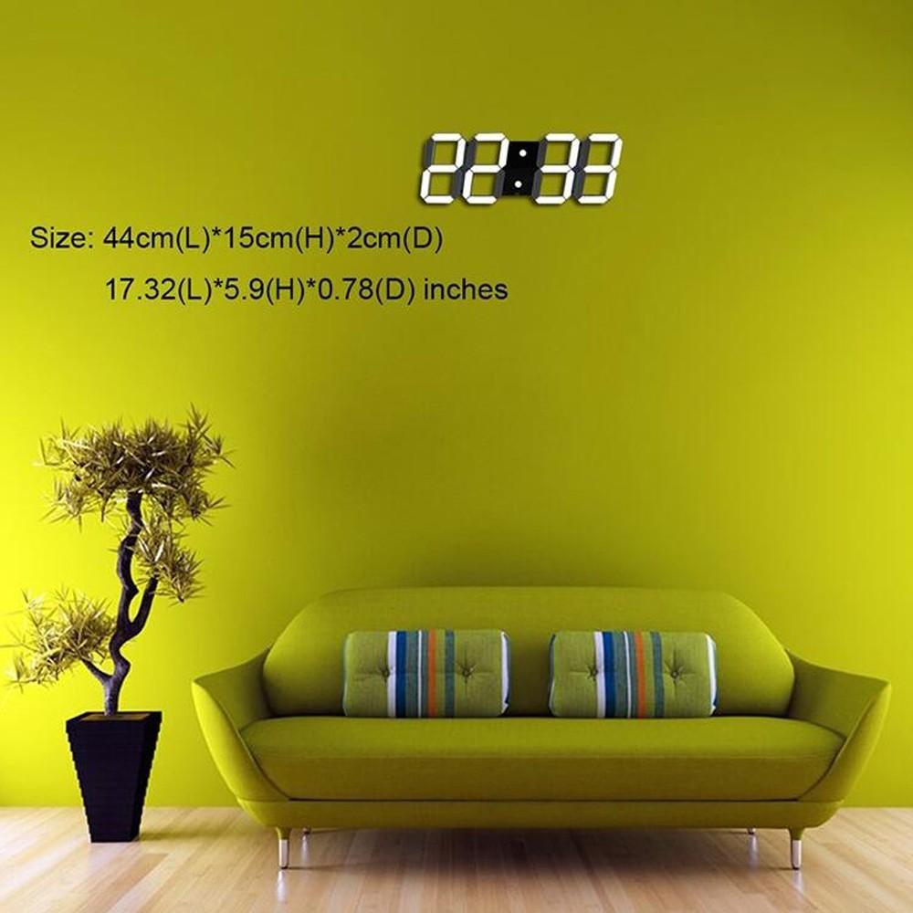 343b030c06c Controle remoto 3D de Parede Digital LEVOU Relógio com Vários Alarmes de  Temperatura Calendário Grande temporizador de Contagem Regressiva Contar  Até ...