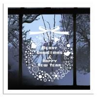 Snowflakes Bells Christmas Tree Decoration Window Wall ...