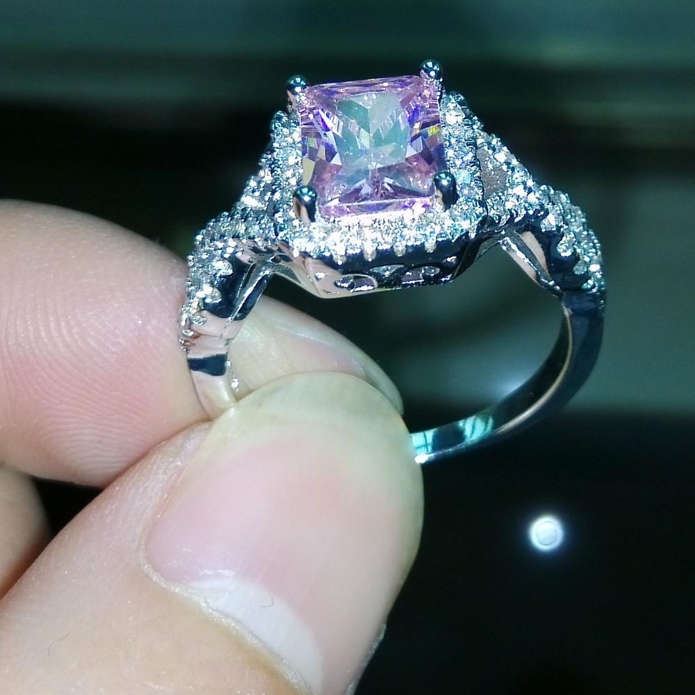 Taille 5-11 joli fait main pour femme argent rond multi-couleur pierre mariage Gem Ring