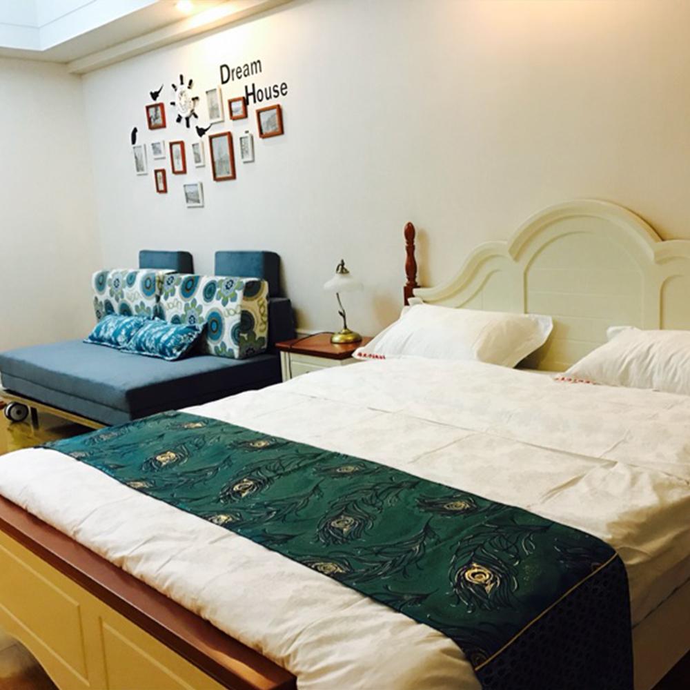 ̿̿̿(•̪ )Yazi Vintage Phoenix flor doble capa cama almohadilla cama ...