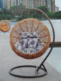 Outdoor swing rattan basket rocking chair cane cradle 2012