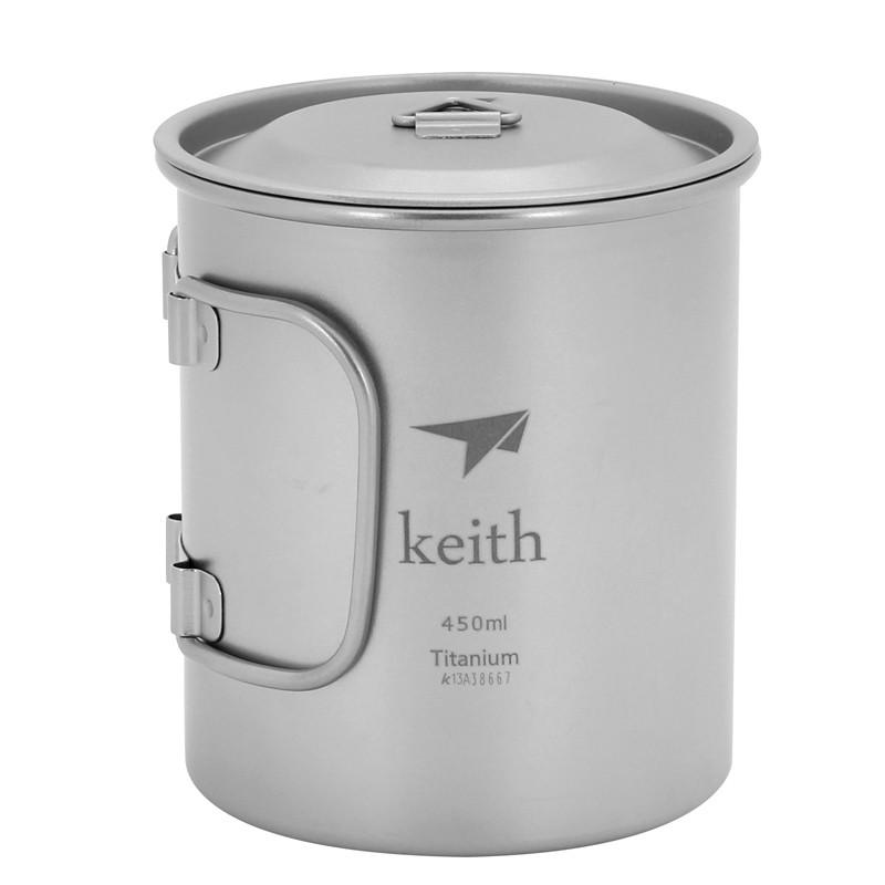 Titane 750 ml Pot Tasse Pliant Poignées Et Cintre-Compact Voyage Camping