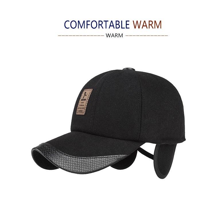 Kioninai 2017 gorra de béisbol de lana proteger orejas sombrero ... 94902f3208c