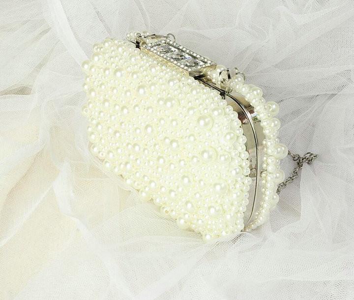 68e0a12ae0 ᗕRdywbu 2017 Nouveau Noble Femelle Perle Diamants D'embrayage Sacs ...