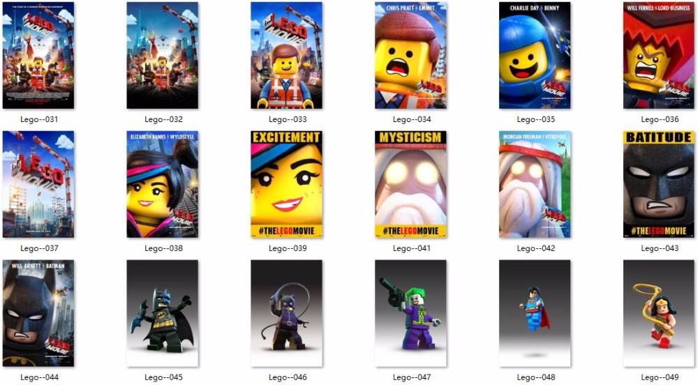 2017 lego calendrier mural-Feuille Autocollant Lego-autocollants
