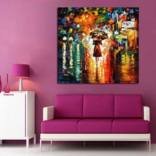 100 Handpainted Abstract Back Home Knife Oil Painting On Canvas Thick Paintings For