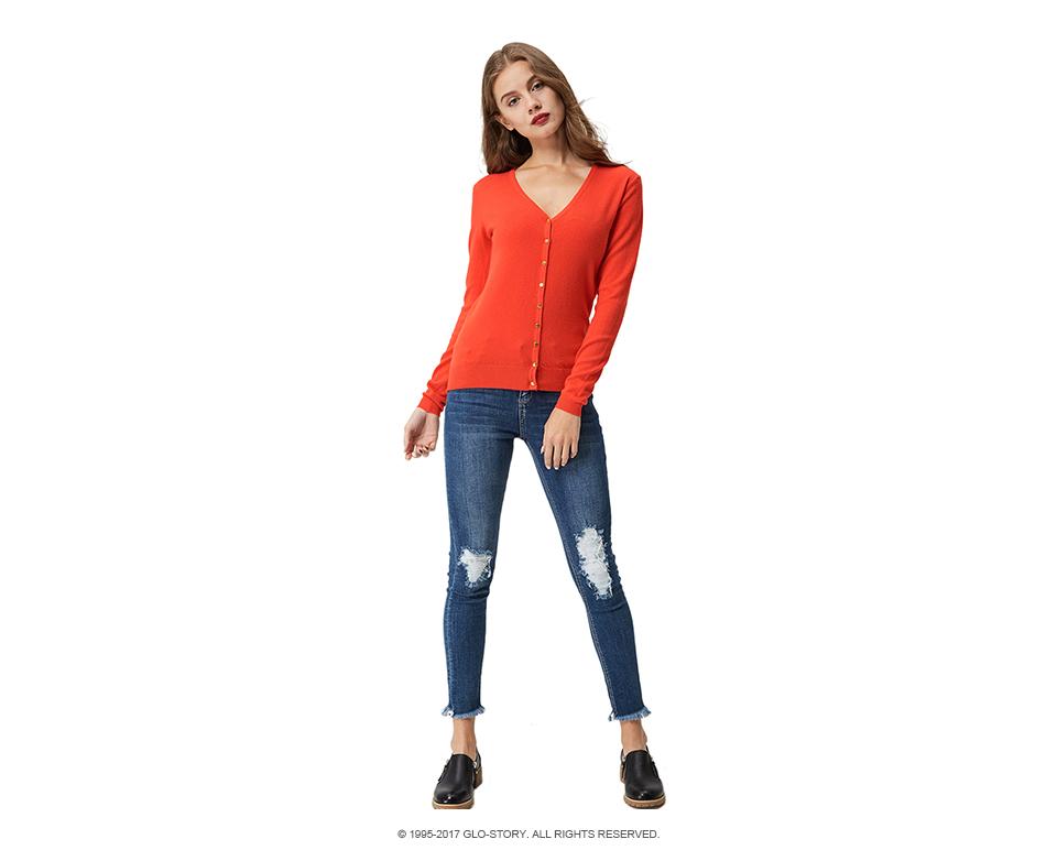 ̿̿̿(•̪ )GLO-STORY mujeres suéter cardigans 2018 otoño invierno más ...