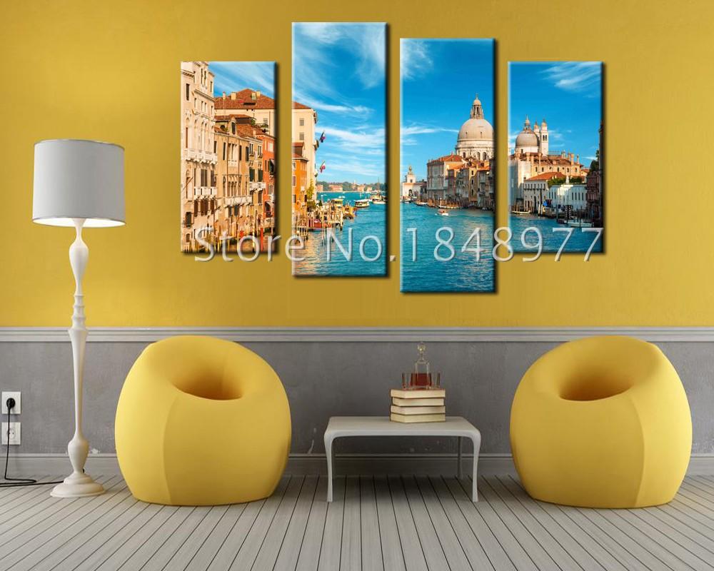 ⑧4 Pcs(No Frame) Venice Landscape Picture Print Painting On Canvas ...