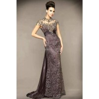 Long Evening Dresses Short Sleeves - Holiday Dresses