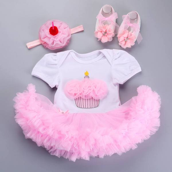 Born Baby Clothes China Cheap Shoe Headband Set Toddler Girls Birthday Outfits Tutu Sets