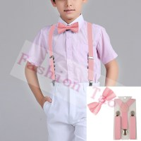Popular Pink Suspenders and Bow Tie-Buy Cheap Pink ...