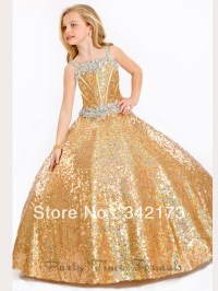Gold Pageant Dresses For Little Girls Princess | gold ...