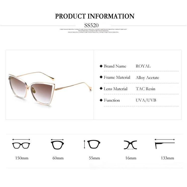 ⊹MENINA REAL Nova Moda Olho de Gato Mulheres óculos de Sol Marca de ... 37c4b25456