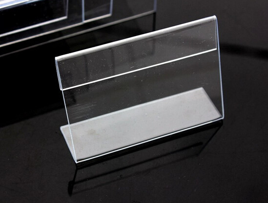 Very ③3.5*5CM Clear Acrylic Name table card Price Tag Advertisement  WR44