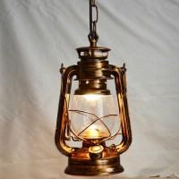 Vintage Lantern Kerosene Pendant Lamp Light Lighting ...