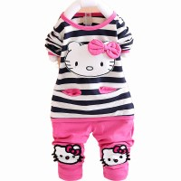 Hello Kitty Baby Girl Clothing Sets Spring Knitted T shirt ...