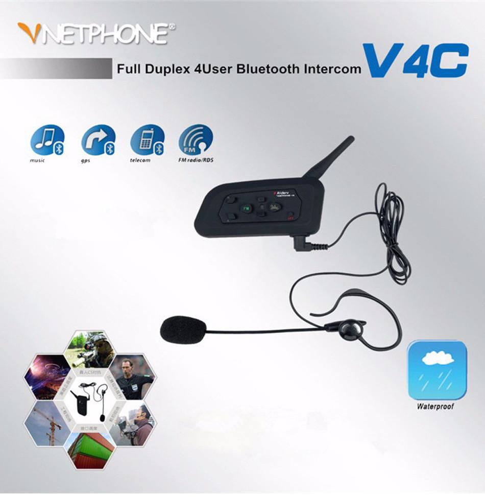 Football Referee Intercom Bt Headset 4 Communicators 1200m Fullduplex Pcb For Your Office And House Electronic Design Full Duplex Bluetooth Interphone V4c Ear Headphone Walkie