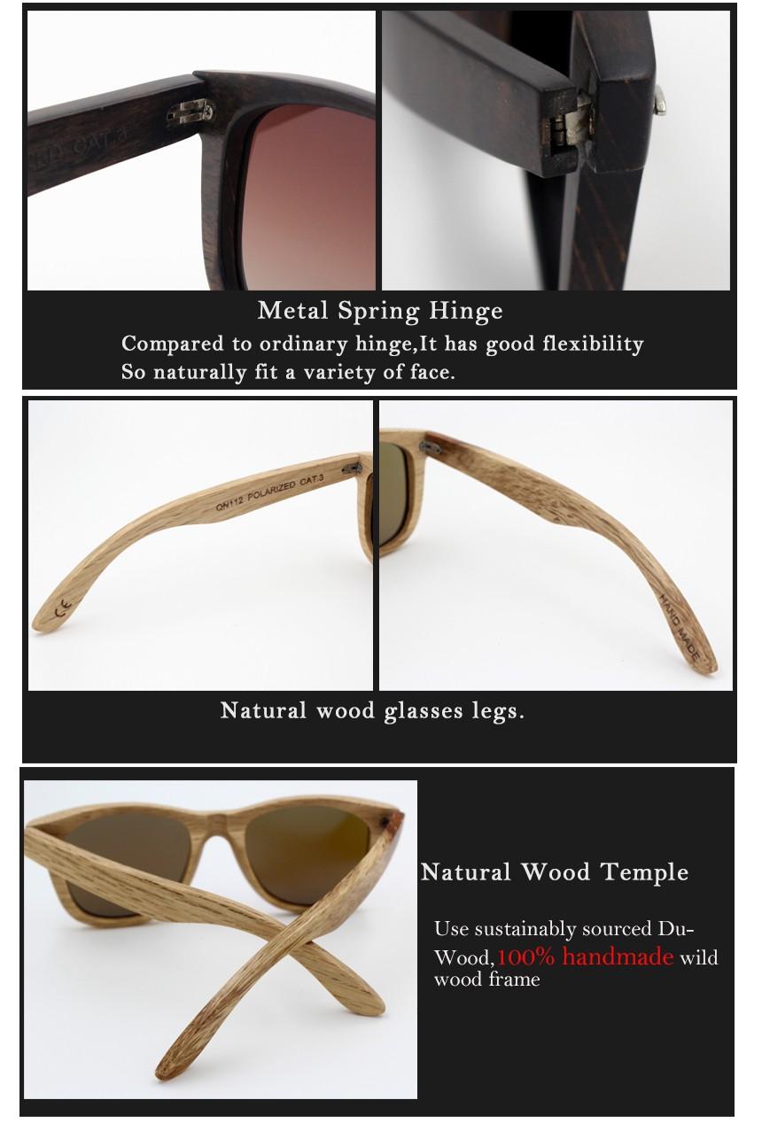 4930bcf687e Vintage Wood Sunglasses Men Brand Designer Polarized Sun Glasses for ...