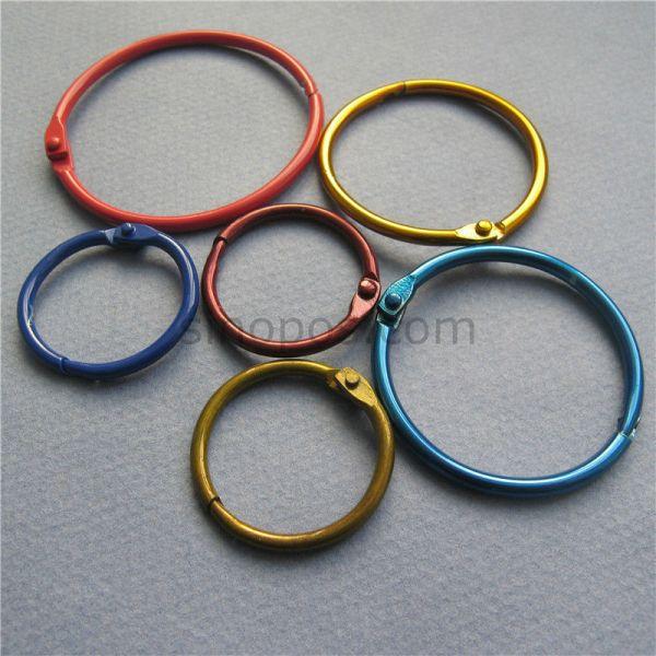 Metal-nickel-plating-book-ring-card-key-ring-diy-book