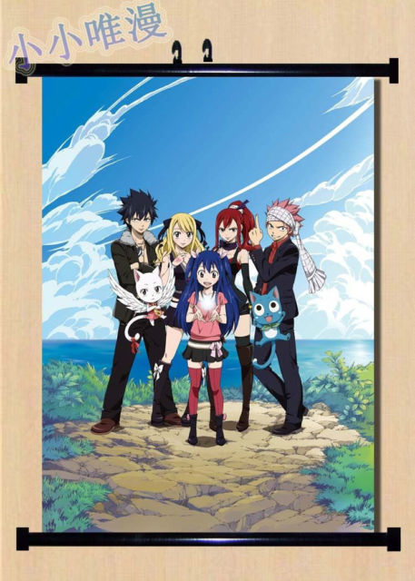 Anime Fairy Tail Erza Scarlet Ailosa Home Decor Wall Scroll Poster Anese X2