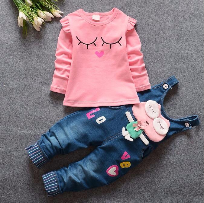 e1763318dd02 ᗑ 100% Cotton Baby Girl Clothes Spring Autumn Children Kids Girls ...