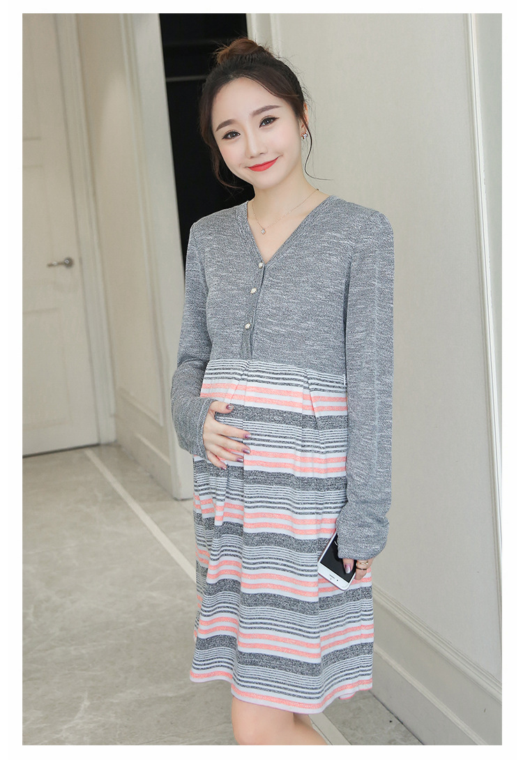 ᗕCotton Nursing Dress Clothes Breastfeeding for Pregnant Women ...