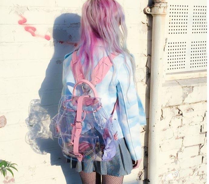 ④Fashion Shoulder Bag Summer Transparent Bags Korean Version Casual ... bbf3ed9a60