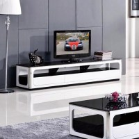 Simple modern glass coffee table TV cabinet TV cabinet TV ...