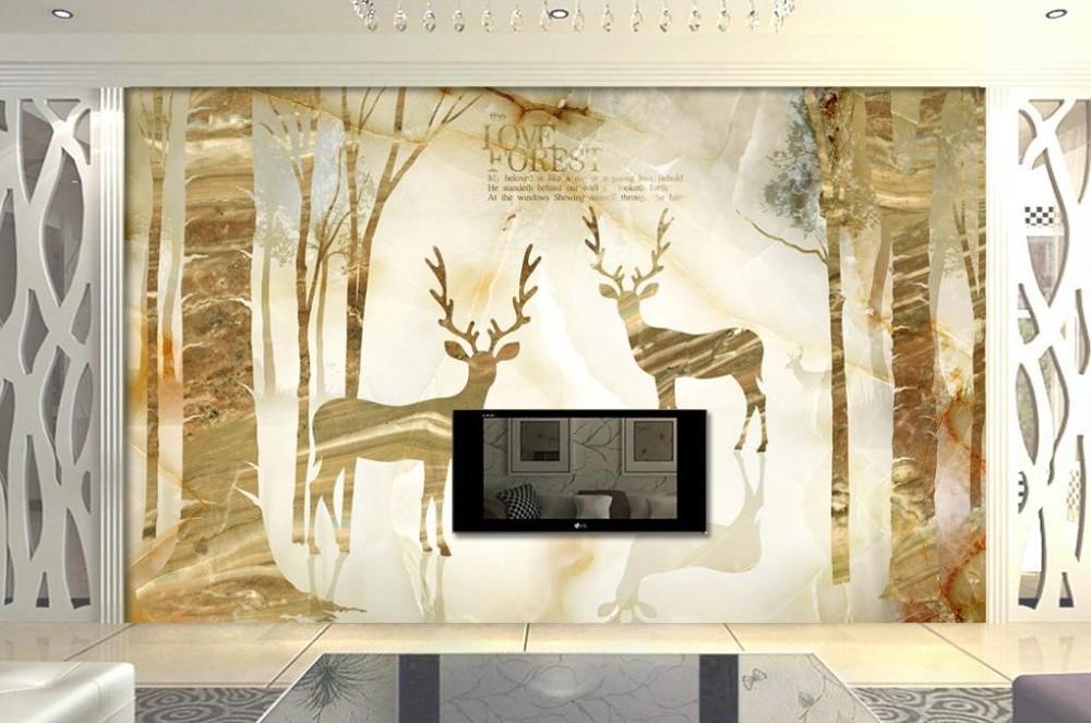 Ξmarmer elanden goud moderne eenvoudige europese mode d behang