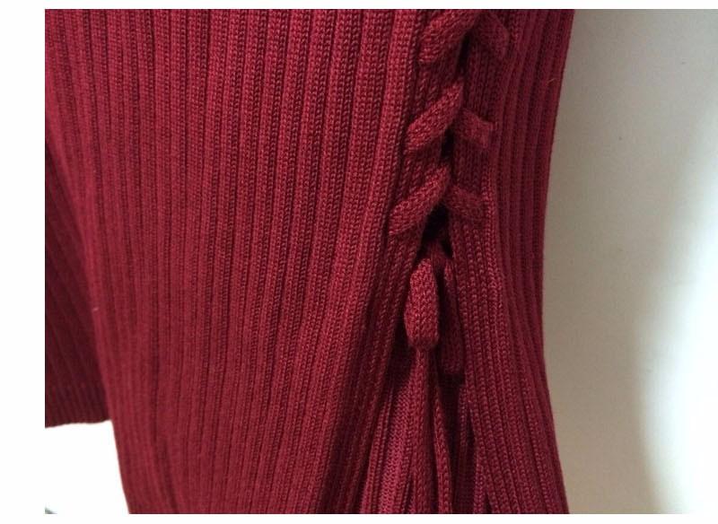 Otoño Invierno Las Mujeres de la Costilla de Punto Midi Falda de Tubo  Partido Del Vendaje Faldas Paquete Delgado de La Cadera Faldas de La Calle  Desgaste ... 099fe562c5c
