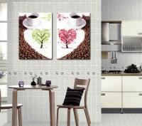 2 piece wall canvas art Kitchen wall art Canvas painting ...