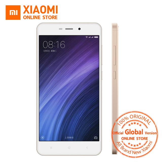 Global Vesion Xiaomi Redmi 4A Mobile Phone Snapdragon 425 Quad Core CPU 2GB RAM 16GB ROM 5.0 Inch 13.0MP camera 3120mAh B20 BAND