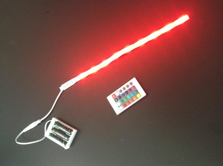 5050 rgb color battery powered flexible led strip light