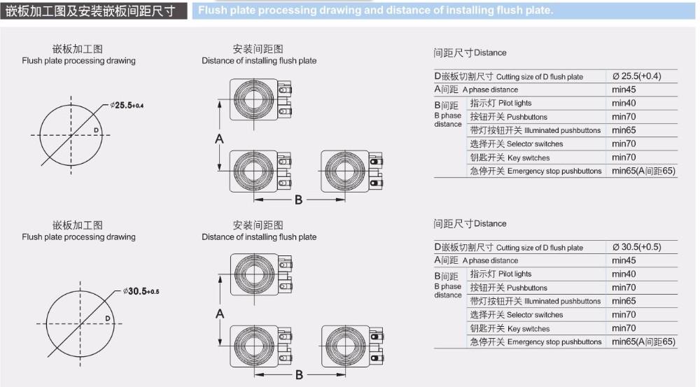 Mode OFF-ON 19 mm 90 KS-32 Commutateur Interrupteur à clé 2-interrupteur de position
