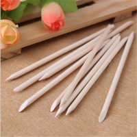 20pcs Nail Art Orange Wood Stick Cuticle Pusher Remover ...